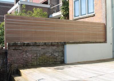tuinscherm en achterpui st Annastraat Nijmegen (1)